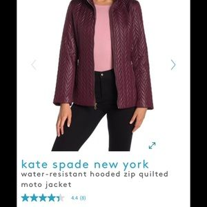 NWT Kate Spade ♠️ gorgeous maroon jacket size XS